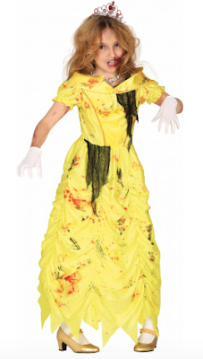 Halloween Kinder kostuum zombie princess